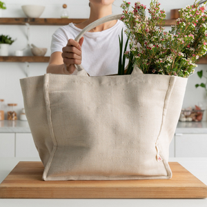 The Keeper Tote Bag (Jute / Organic Cotton) - 1 Bag