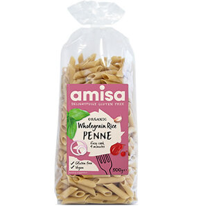 Amisa Rice Penne Wholegrain (Organic) ~ 500g