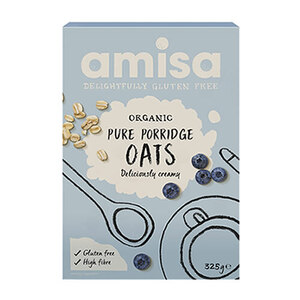 Amisa Pure Porridge Oats (Organic & Low Gluten) ~ 325g