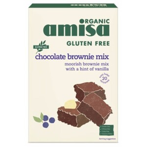 Amisa Chocolate Brownie Mix (Organic & Gluten Free) ~ 400g
