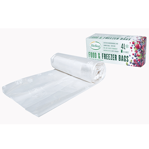 BioBag Compostable Freezer Bags 4L - 25 Bags