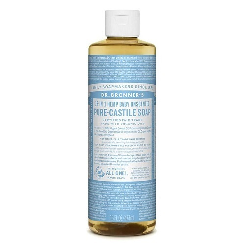 Dr. Bronner's Castile Liquid Soap Baby Unscented (Organic) ~ 473ml