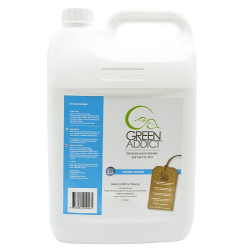 GreenAddict Natural Mirror and Glass Cleaner ~ 5 Litre Refill