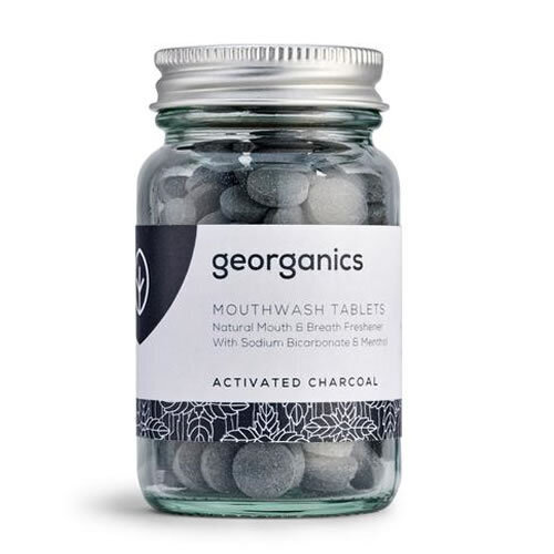 Georganics Mouthwash Tablets Activated Charcoal ~ 180 tablets