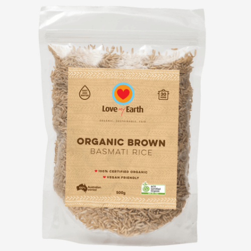 Love My Earth Organic Brown Basmati Rice ~ 500g