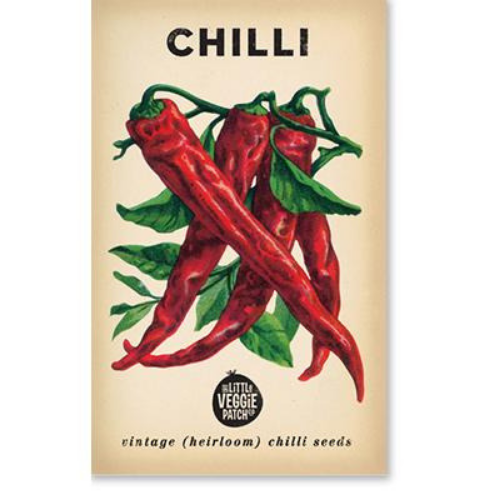 The Little Veggie Patch Co Chilli 'Cayenne' Heirloom Seeds