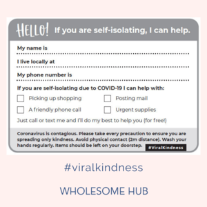 #Viral Kindness. What we're doing about COVID19 and how to get through